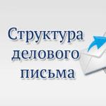 Структура делового письма
